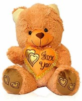Grab A Deal Teddy Bear With Only You Heart  - 18 Inch(Golden Brown)