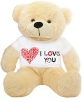 Grab A Deal Big Teddy Bear wearing a Beautiful I Love You T-shirt  - 24 inch(Beige, Orange)