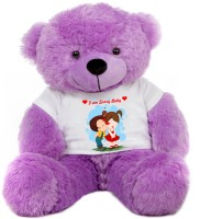 Grab A Deal Big Teddy Bear wearing I am sorry baby T-shirt  - 24 inch(Purple)
