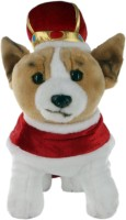 Hamleys Royal Corgi Soft Toy  - 11.8 inch(Multicolor)