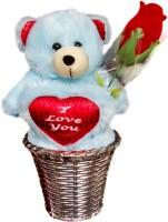 Luxury Gifts By Nikki Valentine's I Love You Teddy  - 6 inch(Blue, Red)