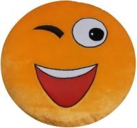 Lehar Toys Smiley Cushion (Wink)  - 15 cm(Yellow)