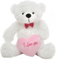 Grab A Deal 2 Feet Big Teddy Bear with Pink I Love You Heart  - 24 Inch(White)