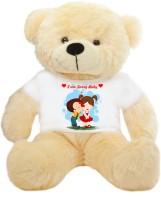 Grab A Deal ig Teddy Bear wearing I am sorry baby T-shirt  - 24 inch(Beige, Orange)