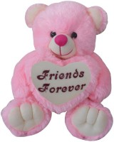 Saugat Traders Friends Forever Teddy Bear  - 40 cm(Pink, White)