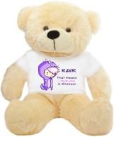 Grab A Deal Big Teddy Bear wearing a Purple RAWR I Love You T-shirt  - 24 inch(Beige, Orange)
