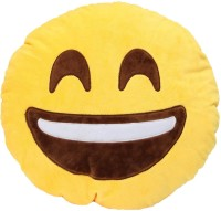 Grab A Deal Happy Smiley Plush Cushion with a Big Smile  - 12 inch(Yellow)
