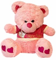 Grab A Deal Teddy Bear for You with Heart Paws  - 16 Inch(Pink)