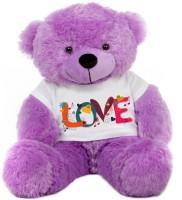 Grab A Deal Big Teddy Bear wearing a Beautiful Love Design T-shirt  - 24 Inch(Purple)