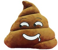Grab A Deal Soft Smiley Emoticon Dark Brown Cushion Pillow Stuffed Plush Toy Doll (Hungry Poo)  - 12 inch(Brown)