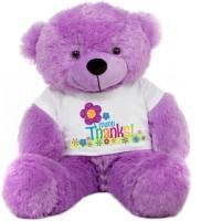 Grab A Deal Big Teddy Bear wearing Many Thanks T-shirt  - 24 Inch(Purple)