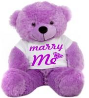 Grab A Deal Big Teddy Bear wearing a Marry Me T-shirt  - 24 inch(Purple)