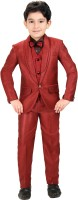 Kute Kids Coat Suit Set Self Design Baby Boys Suit