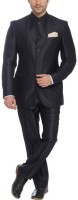 Park Avenue Bandgala Solid Mens Suit