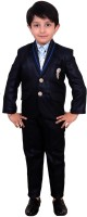 Arshia Fashions double Breasted Solid Boys Suit