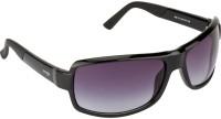 Image Wrap-around Sunglasses(Grey)