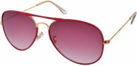 Joe Black Aviator Sunglasses(Red)