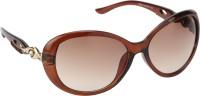 AAO  S5534 brown Rectangular Sunglasses(Brown)