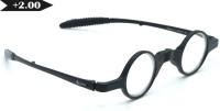 40 XPLUS 845-C1-FOLDING 2.00 Round Sunglasses(Clear)