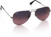 Ray-Ban Aviator Sunglasses(Blue, Violet)