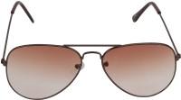 The Brandstand Aviator Sunglasses(Brown)