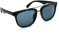 STACLE Rectangular Sunglasses(For Men, Black)