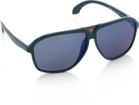 Calvin Klein Rectangular Sunglasses(Blue)