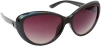 Galaxy Corp SS-7231-BLK Cat-eye Sunglasses(Black)