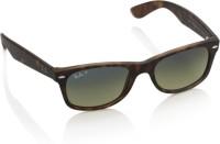 Ray-Ban Rectangular Sunglasses(Green, Blue)