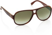 Salvatore Ferragamo Aviator Sunglasses(Green)