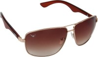 NOD Rectangular Sunglasses(Brown)