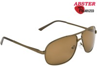 Abster Aviator Sunglasses(Brown)