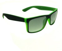 Mangal Brothers Rectangular Sunglasses(For Men & Women, Green)