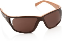 Police Rectangular Sunglasses(Brown)