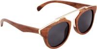 Tocca di Legno Over-sized Sunglasses(For Boys & Girls, Black)