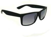 Mangal Brothers Rectangular Sunglasses(For Men & Women, Black)