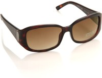 Kenneth Cole Rectangular Sunglasses(Brown)