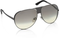 Diesel Aviator Sunglasses(Grey, Brown)
