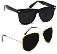 Cruze Wayfarer, Aviator Sunglasses(Black, Black)