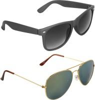 Zyaden Wayfarer, Aviator Sunglasses(For Men & Women, Black)