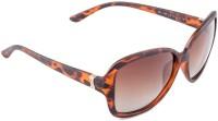 Farenheit Rectangular Sunglasses(Brown)