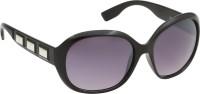 Riyan R 22 Oval Sunglasses(Black)