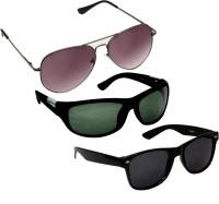 Verre Aviator Wrap-around Wayfarer Sunglasses(For Boys)