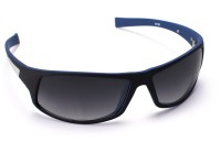 Cruzaar PBL16PR Rectangular Sunglasses(Black)
