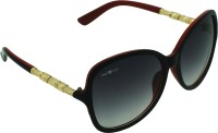 TOMMY FASHION Over-sized Sunglasses(For Girls, Black)