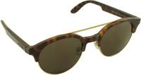 CARRERA Oval Sunglasses(For Men & Women, Brown)
