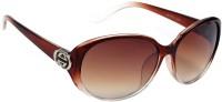 Eyeland Oval Sunglasses(For Men, Brown)
