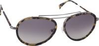 Mango Pickles A-1017-DEMI-SILVER Aviator Sunglasses(Black)