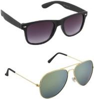 Irayz IRZ_301 Aviator Sunglasses(Green)