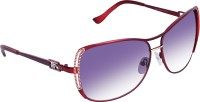 Gio Collection 5818 C4 Red Aviator Sunglasses(Violet)